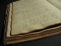 antik bok mig Royaltyfri Bild
