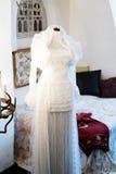 Antik bröllopsklänning Fotografering för Bildbyråer