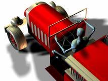 antik brandlastbil Fotografering för Bildbyråer