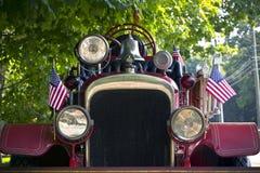antik brandlastbil Arkivbild