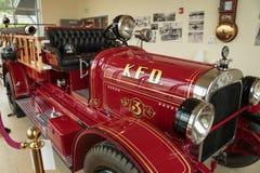 antik brandlastbil Royaltyfria Bilder