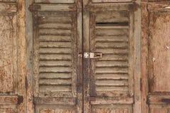 Antik dörr Arkivbilder