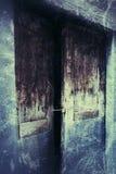 Antik dörr som bakgrund Arkivfoton