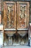 Antik dörr-stil bakgrund, med designen av olika former, även om platsen åtminstone en artikel royaltyfri fotografi