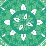 Antik dekorativ textilmodell Royaltyfri Illustrationer