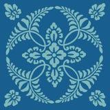 Antik dekorativ textilmodell Stock Illustrationer