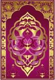 antik designguldottoman royaltyfri foto