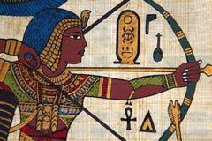 antik egyptisk papyrus royaltyfria bilder