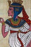 antik egyptisk papyrus royaltyfri foto