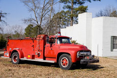 Antik Firetruck Royaltyfri Fotografi