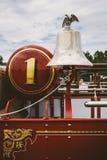 Antik Firetruck Klocka Royaltyfri Fotografi
