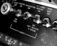 Antik flygplanpanel Royaltyfri Bild