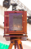 Antik fotografisk kamera Royaltyfria Foton
