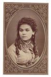 Antik fotografiståendekvinna royaltyfri bild