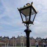 antik främre lanternpostslott Royaltyfri Fotografi
