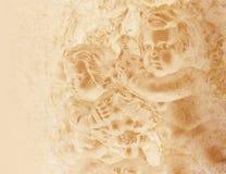 antik gammal bakgrundscherub Royaltyfri Bild
