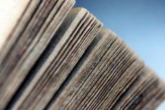 Antik/gammal bok Arkivbild