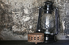 Antik gaslykta - Santa Catalina Convent Arkivbilder