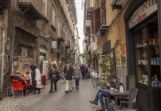 Antik gata - via San Gregorio Armeno, Naples arkivbilder