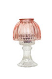 Antik glass stearinljuslampa Arkivfoto
