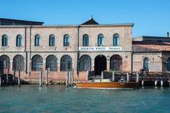 Antik glastillverkningmurano venice veneto Italien Europa Fotografering för Bildbyråer