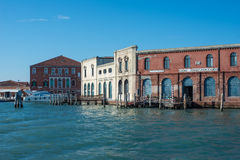 Antik glastillverkningmurano venice veneto Italien Europa Royaltyfri Foto