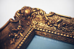 Antik gold picture frame Royalty Free Stock Images