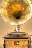 antik grammofon Arkivbild