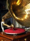 antik grammofon Arkivfoto