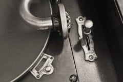 Antik grammofonskivspelare 3 Royaltyfri Foto