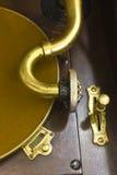 Antik grammofonskivspelare 6 Arkivfoto