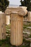 Antik grekisk kolonn i parthenonen, Aten Royaltyfri Foto
