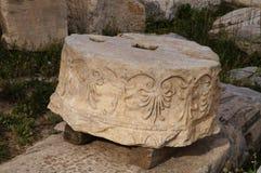 Antik grekisk kolonn, Parthenon, Aten, Grekland Royaltyfria Bilder