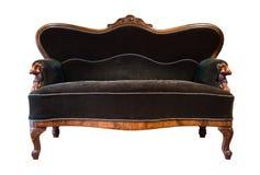 antik grön sofa Royaltyfria Bilder