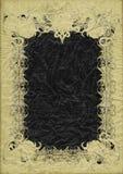 Antik grungesida med den illavarslande bisarra ramen för fantasi Royaltyfri Bild