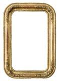 Antik guld- ram Fotografering för Bildbyråer