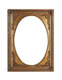 Antik guld- ram för att måla Royaltyfri Bild