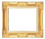 Antik guld- ram som isoleras på vit arkivbilder
