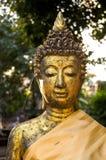 Antik guld- sol för BuddhaWat Chet Yot Thailand eftermiddag Fotografering för Bildbyråer