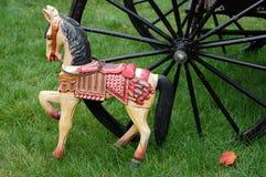 antik hästtoy Royaltyfria Bilder