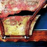 Antik hästvagn (detaljen) - Norfolk UK Arkivbild
