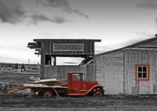 antik hovslagarehdr shoppar lastbilen Royaltyfri Fotografi
