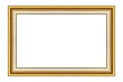 antik isolerad bildwhite för ram guld royaltyfria foton