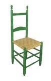 Antik isolerad hög-baksida stol Royaltyfria Foton