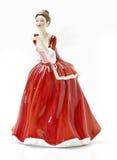 antik isolerat porslin för kvinnlig figureine Royaltyfria Foton