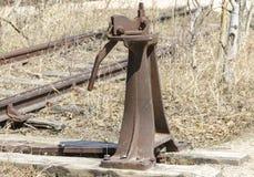 Antik järnväg strömbrytare Royaltyfria Bilder