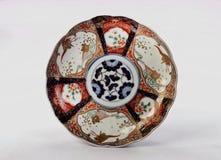Antik japan Imari Plate Arkivbilder