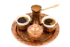 antik kaffeset Royaltyfri Bild