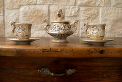 antik kaffeset Royaltyfri Fotografi