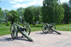 Antik kanon i Lappeenranta arkivbild